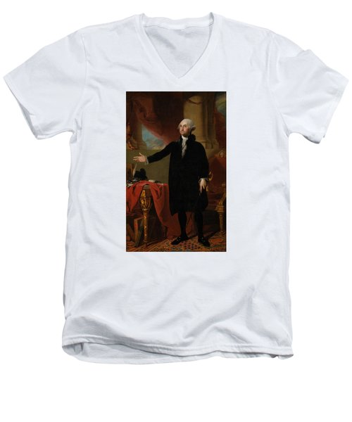 George Washington Lansdowne Portrait Men's V-Neck T-Shirt by War Is Hell Store