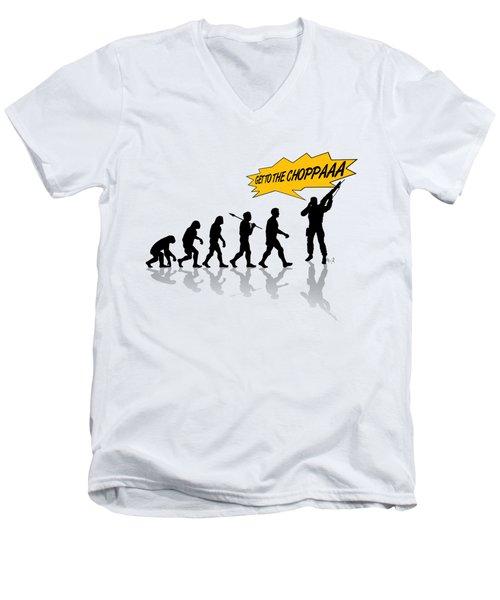 Get To The Choppa Men's V-Neck T-Shirt by Filippo B