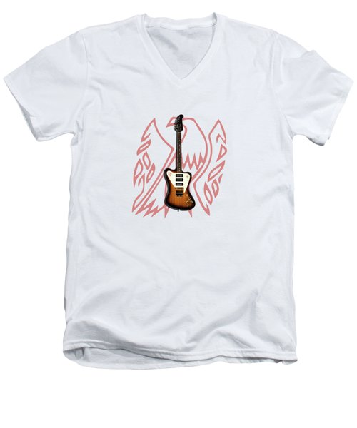 Gibson Firebird 1965 Men's V-Neck T-Shirt by Mark Rogan