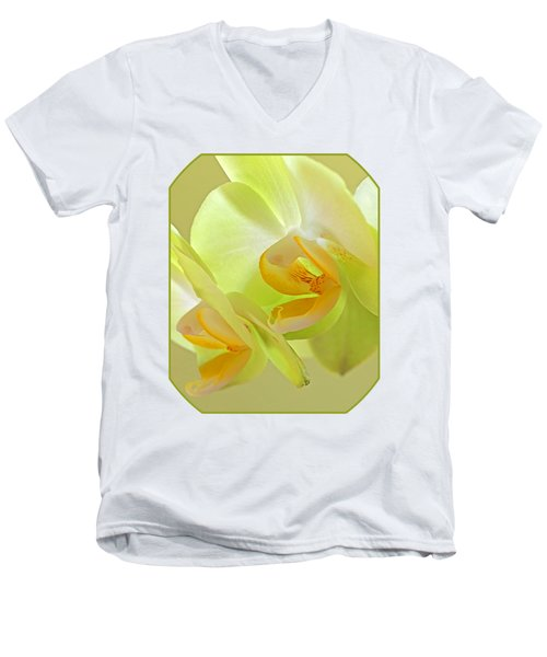 Glowing Orchid - Lemon And Lime Men's V-Neck T-Shirt by Gill Billington