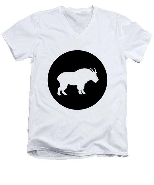 Goat Men's V-Neck T-Shirt by Mordax Furittus