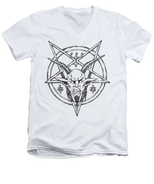 Goatlord Logo Men's V-Neck T-Shirt by Alaric Barca