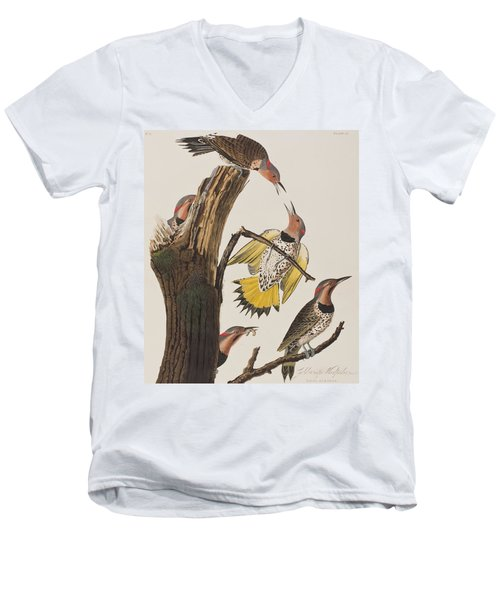 Golden-winged Woodpecker Men's V-Neck T-Shirt by John James Audubon
