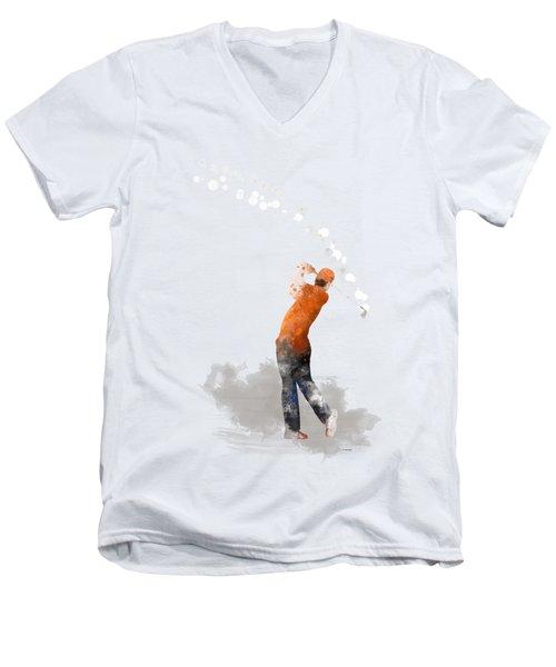 Golfer 1 Men's V-Neck T-Shirt by Marlene Watson