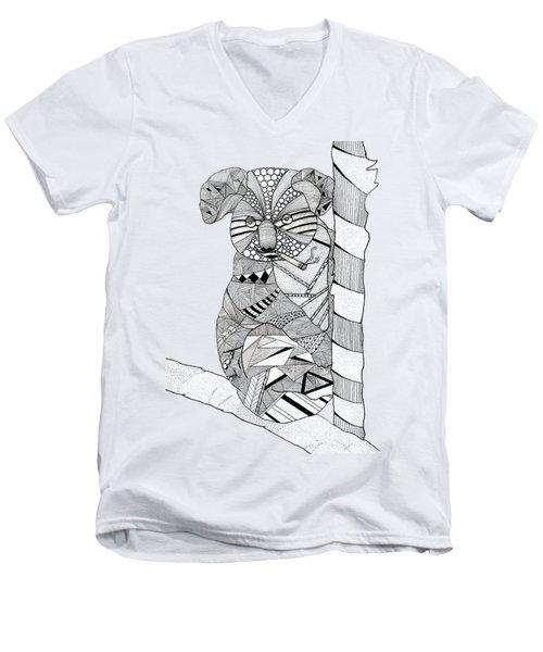 Goo Men's V-Neck T-Shirt by Serkes Panda