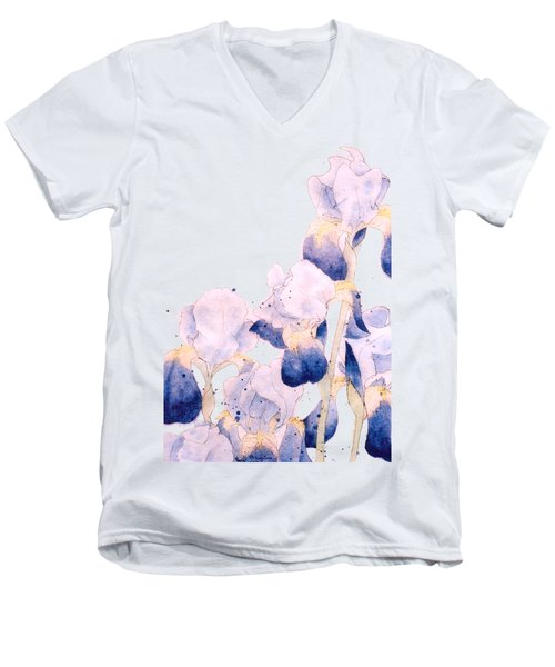 Graceful Iris Men's V-Neck T-Shirt by Gail Maguire