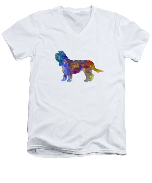 Grand Basset Griffon Vendeen In Watercolor Men's V-Neck T-Shirt by Pablo Romero