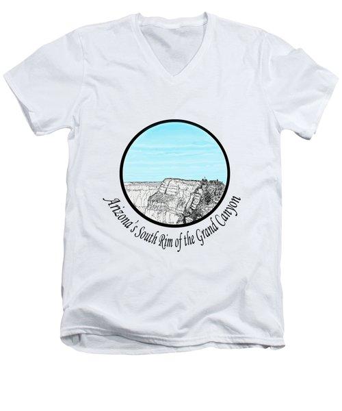 Grand Canyon - South Rim Men's V-Neck T-Shirt by James Lewis Hamilton