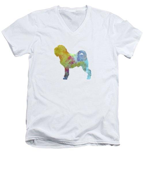 Griffon Belge In Watercolor Men's V-Neck T-Shirt by Pablo Romero
