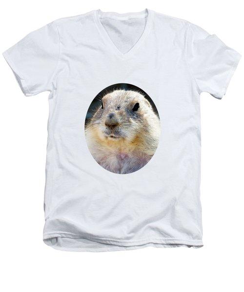 Ground Squirrel Portrait Men's V-Neck T-Shirt by Laurel Powell