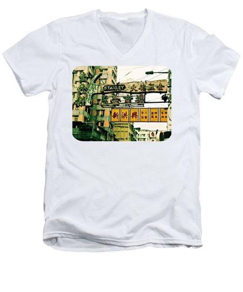 Hammer To Fall Men's V-Neck T-Shirt by Ethna Gillespie