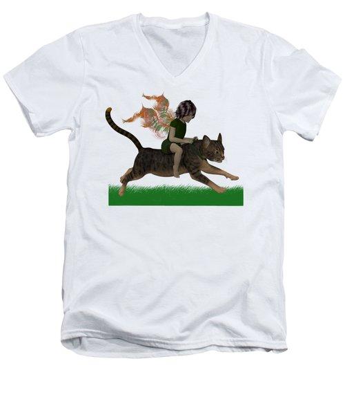Having Fun Men's V-Neck T-Shirt by Nancy Pauling