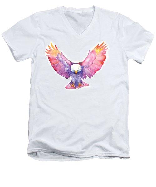 Healing Wings Men's V-Neck T-Shirt by Cindy Elsharouni