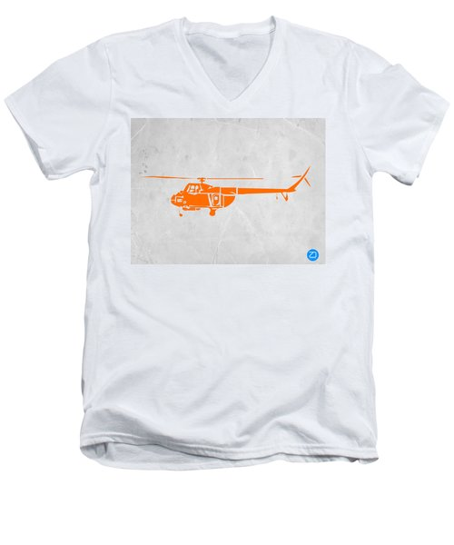 Helicopter Men's V-Neck T-Shirt by Naxart Studio