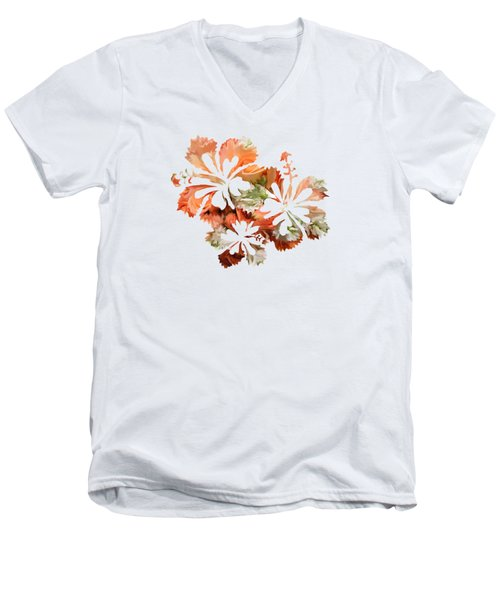 Hibiscus Flowers Men's V-Neck T-Shirt by Art Spectrum