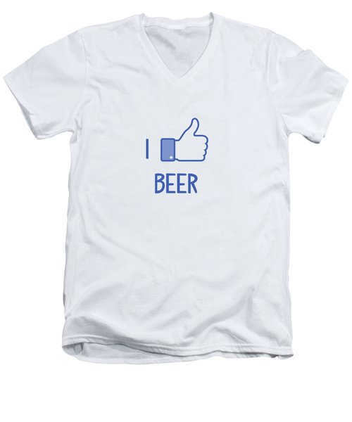 I Like Beer Men's V-Neck T-Shirt by Citronella Design