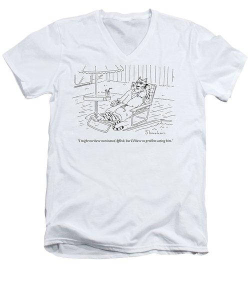 I Might Not Have Nominated Affleck, But I'd Men's V-Neck T-Shirt by Danny Shanahan