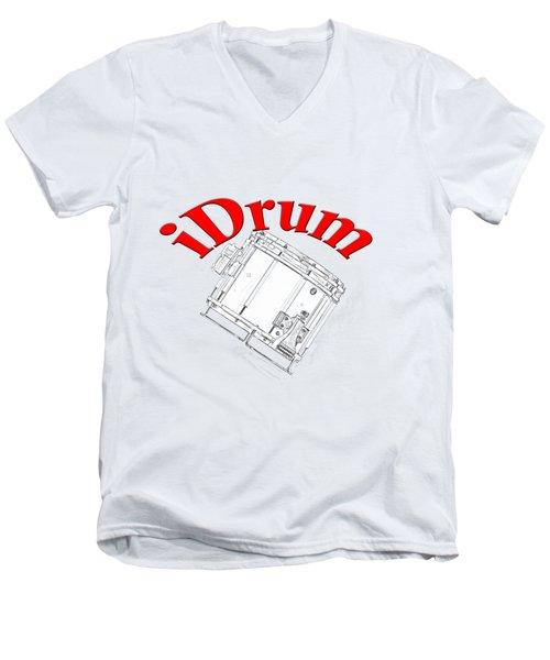 iDrum Men's V-Neck T-Shirt by M K  Miller