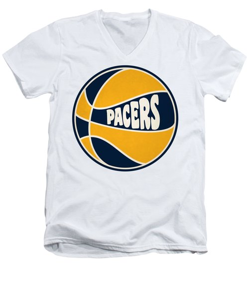 Indiana Pacers Retro Shirt Men's V-Neck T-Shirt by Joe Hamilton