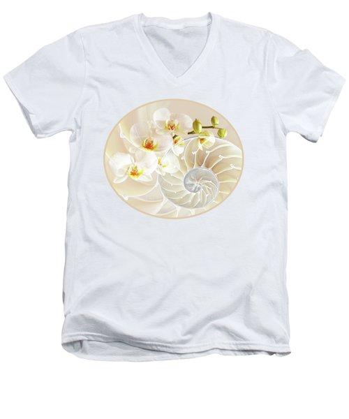 Intimate Fusion Men's V-Neck T-Shirt by Gill Billington