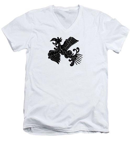 Phoenix Tee Shirt 3 Men's V-Neck T-Shirt by Nathan Beardsley