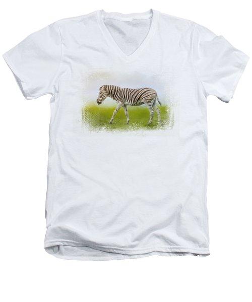 Journey Of The Zebra Men's V-Neck T-Shirt by Jai Johnson