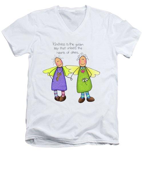 Kindness Men's V-Neck T-Shirt by Sarah Batalka