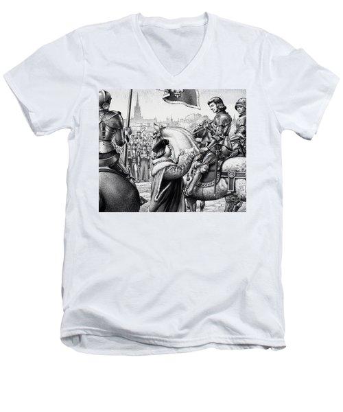 King Henry Vii Men's V-Neck T-Shirt by Pat Nicolle