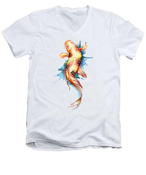 Koi Fish I Men's V-Neck T-Shirt by Sam Nagel