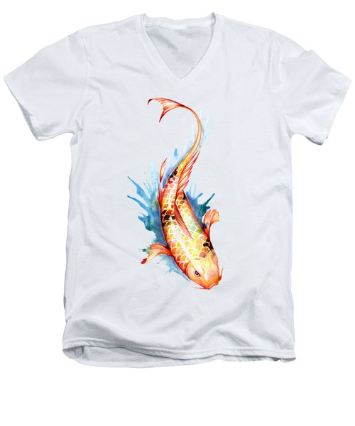 Koi Fish II Men's V-Neck T-Shirt by Sam Nagel