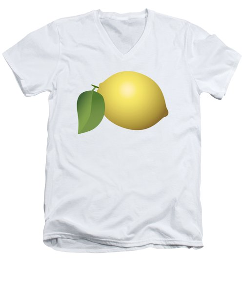 Lemon Fruit Men's V-Neck T-Shirt by Miroslav Nemecek