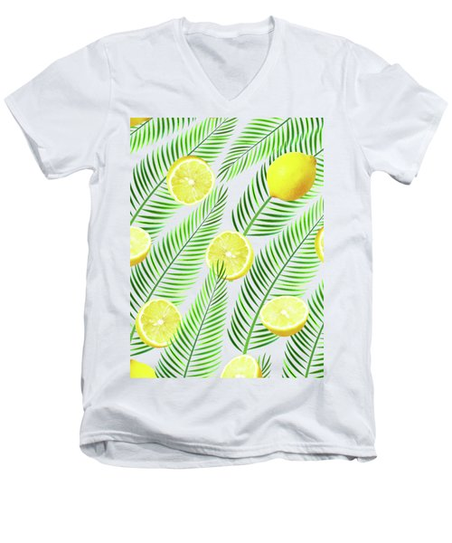 Lemons Men's V-Neck T-Shirt by Uma Gokhale
