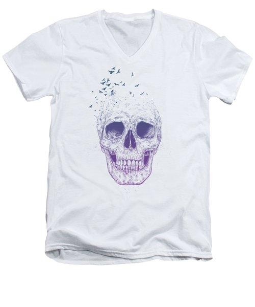 Let Them Fly Men's V-Neck T-Shirt by Balazs Solti