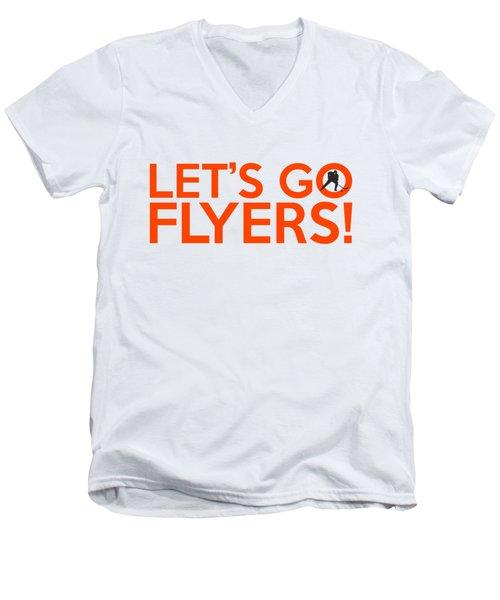 Let's Go Flyers Men's V-Neck T-Shirt by Florian Rodarte