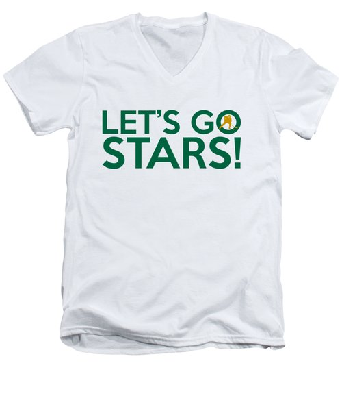 Let's Go Stars Men's V-Neck T-Shirt by Florian Rodarte