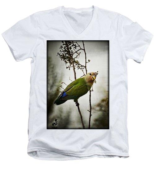 Lovebird  Men's V-Neck T-Shirt by Saija  Lehtonen