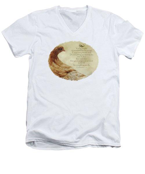 Lovely Lace - Verse Men's V-Neck T-Shirt by Anita Faye