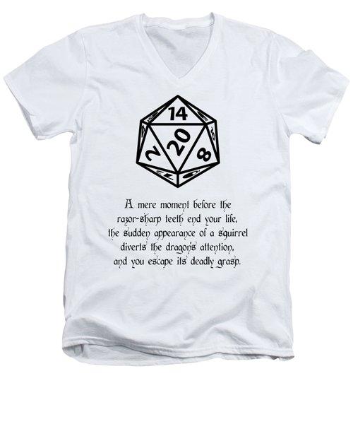 Lucky Escape Men's V-Neck T-Shirt by Jon Munson II