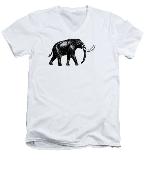 Mammoth Tee Men's V-Neck T-Shirt by Edward Fielding