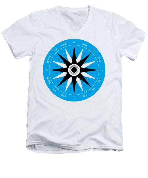 Mariner's Compass Men's V-Neck T-Shirt by Frank Tschakert