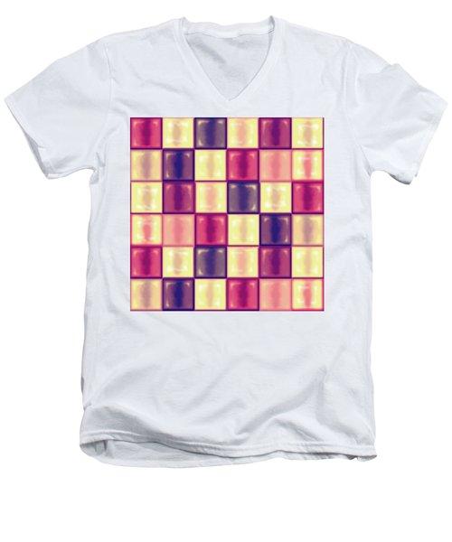 Marsala Ceramic Tiles - Square Men's V-Neck T-Shirt by Shelly Weingart