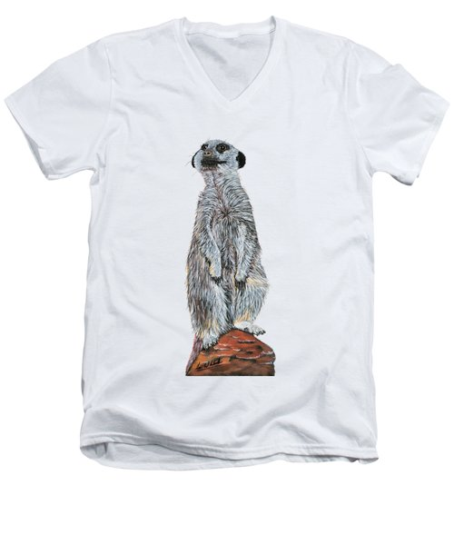 Meer Curiosity Custom Men's V-Neck T-Shirt by Lee Wolf Winter