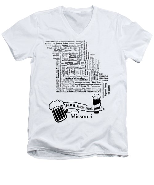 Micro Brew Missouri Men's V-Neck T-Shirt by Ryan Burton