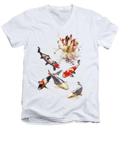 Midnight Reflections Men's V-Neck T-Shirt by Gill Billington