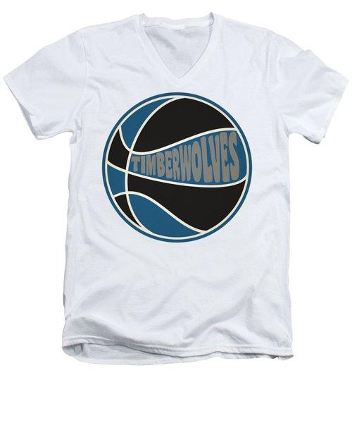 Minnesota Timberwolves Retro Shirt Men's V-Neck T-Shirt by Joe Hamilton