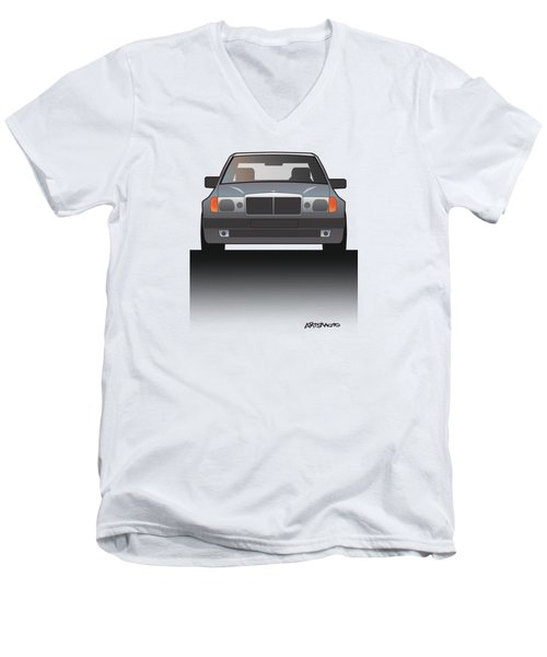 Modern Euro Icons Series Mercedes Benz W124 500e Split  Men's V-Neck T-Shirt by Monkey Crisis On Mars