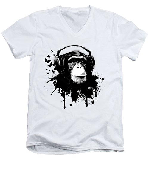 Monkey Business Men's V-Neck T-Shirt by Nicklas Gustafsson