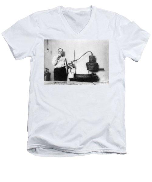 Moonshine Distillery, 1920s Men's V-Neck T-Shirt by Granger