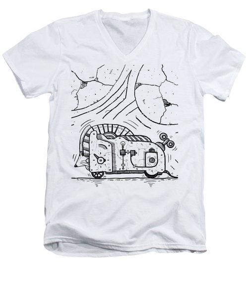Moto Mouse Men's V-Neck T-Shirt by Sotuland Art