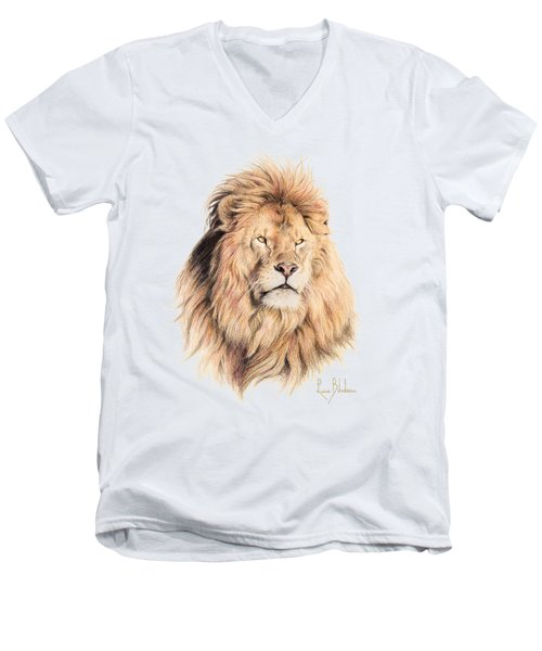Mufasa Men's V-Neck T-Shirt by Lucie Bilodeau